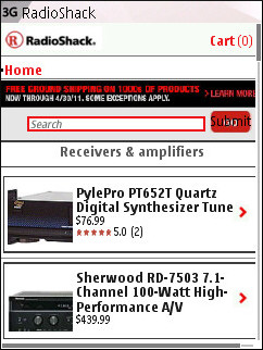 Radio Shack Mobile - Product Catalog