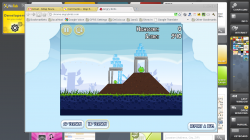Angry Birds in Chrome 11 on the ExoPC running the WeTab OS