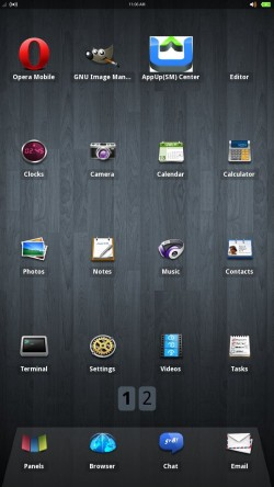 MeeGo Tablet -Grid UI
