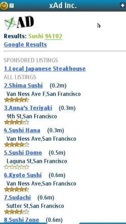 xAD Sushi Results