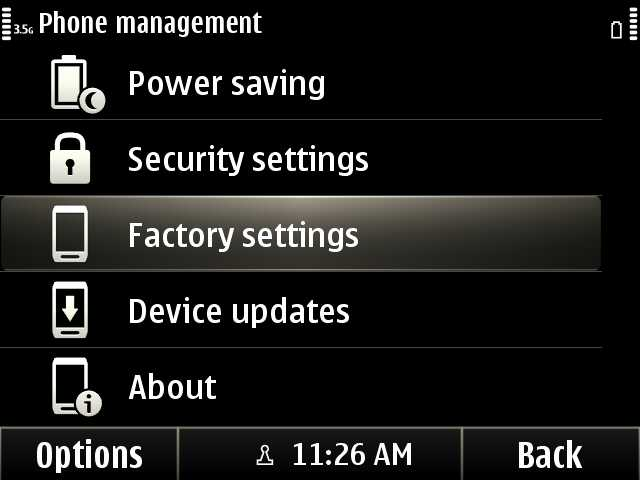 3. Settings > Phone > Phone management > Factory settings