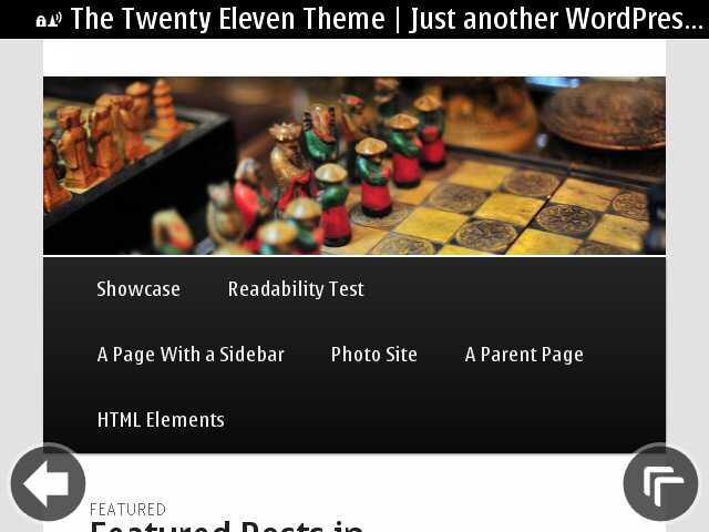 Nokia E6- WordPress Menu