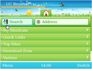 UC Browser for BlackBerry Alternate Theme