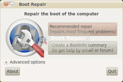Ubuntu Boot Repair Utility