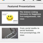 SlideShare Android - Main Menu