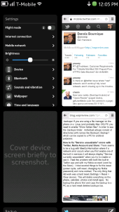 Nokia N9 Task Manager (Open Applications) Homescreen