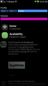 Nokia N9 Statusbar Dropdown