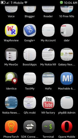 Nokia N9 - Terminal and Opera Icons