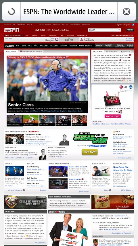 Nokia N9 Firefox Mobile - ESPN