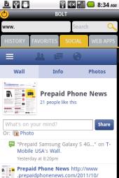 """Bolt Social - A Facebook """"Page"""""""