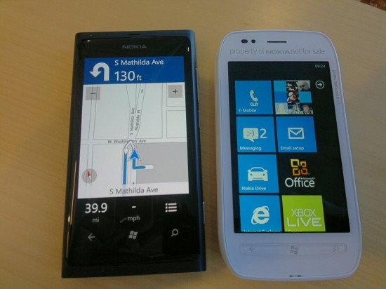 Nokia Lumia 800 and 710
