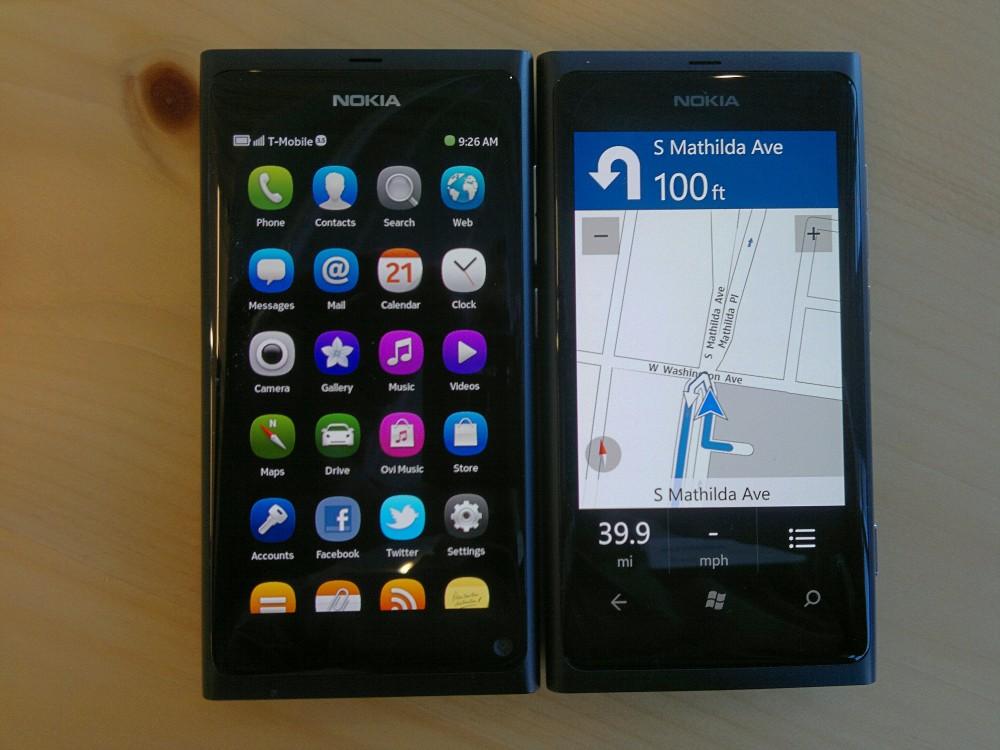 Nokia N9 and Lumia 800
