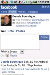 OperaMini 6.5 Facebook