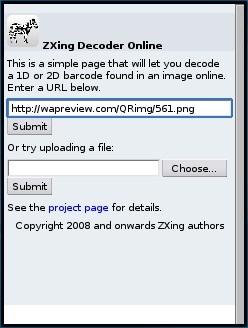 ZXing Online Decoder