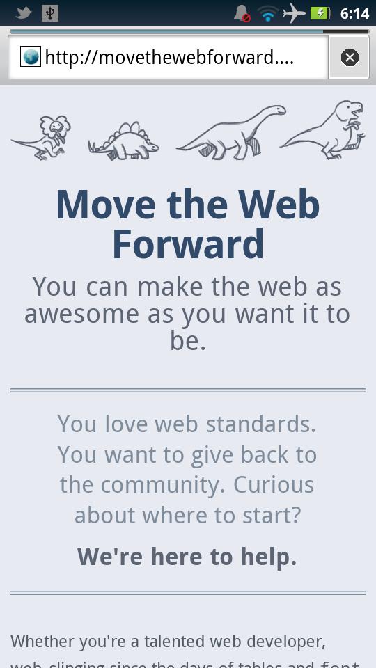 Move The Web Forward