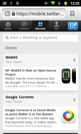 New Twitter Mobile Webapp - Discover Tab
