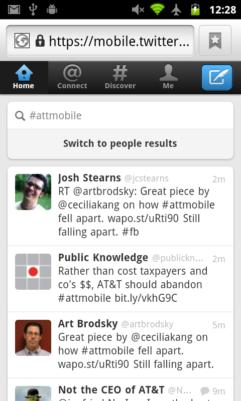 New Twitter Webapp - NoTweet Box On Hashtag Search Result