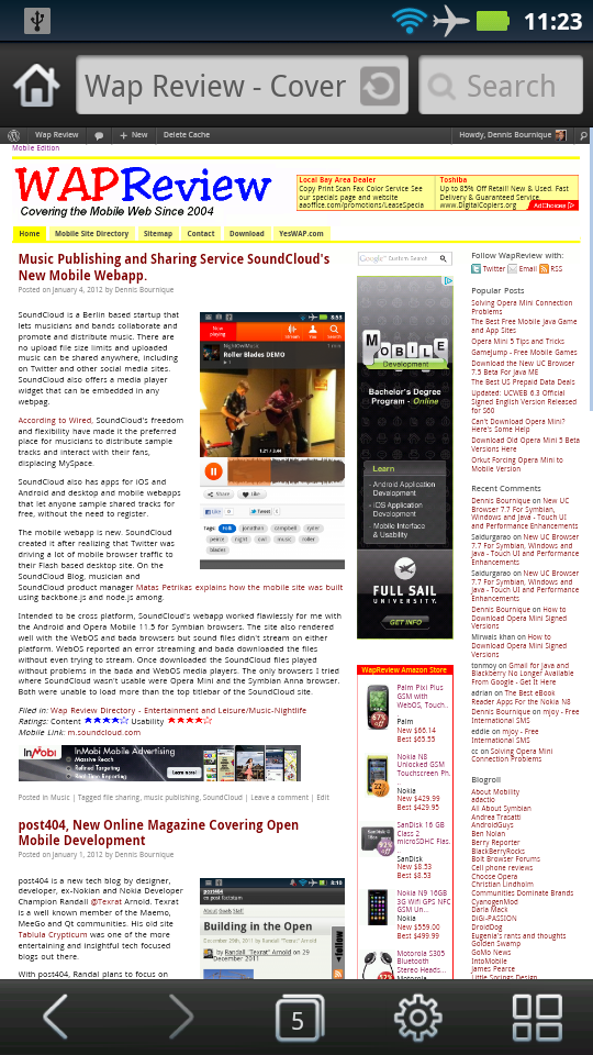UC Browser 8.0.5 Android Desktop Mode