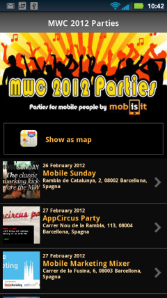 MWC 2012 Parties