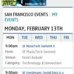 Social Media Webapp - Tabbed Event Calendar