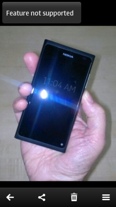 Nokia Belle Gallery with Error