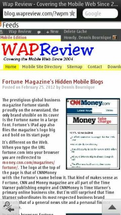 Opera Mini Next Symbian Text Wrap Off