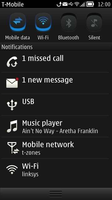 Nokia Bell - Pull down Notification Drawer