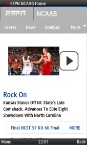 UC Browser 8.2 ESPN Video Player