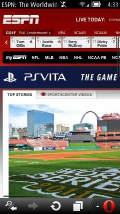 Opera Mobile 12 (Symbian) ESPN (desktop)