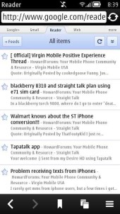 Google Reader Touch