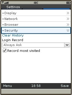 UC Browser 8.2 - New Settings menu