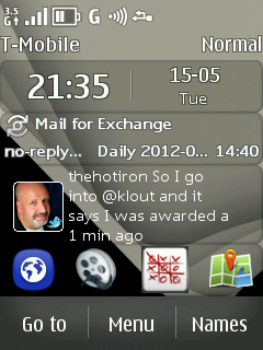 Asha 303 Home Screen With WebApp Icons