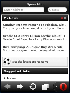 Opera Mini 7 Java Smart Page - My News