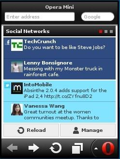 Opera Mini 7 Java Smart Page - Social Networks