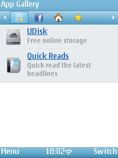 UC Browser 8.4 - App Gallery on Nokia N95-3