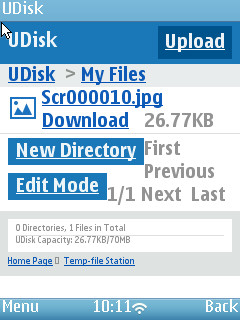 UC Browser 8.4 - UDisk on Nokia N95-3