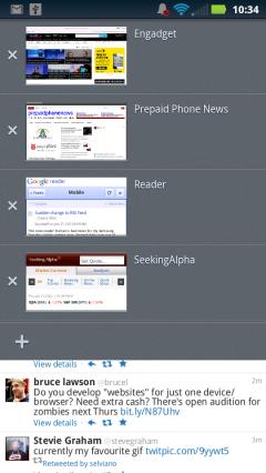 Firefox Mobile 14 - Tabs Dropdown
