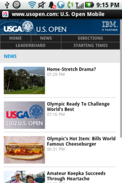 US Open Official Mobile Site