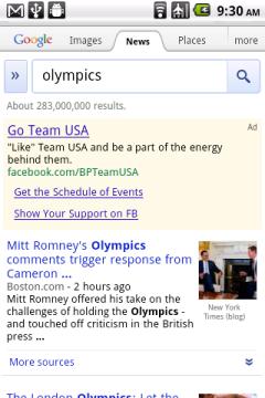 Google News Olympics