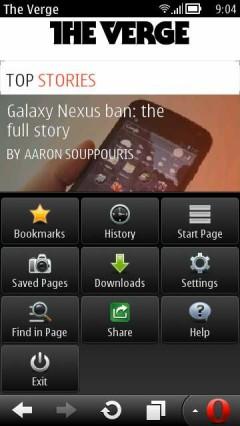 Opera Mini 7 Update 1 for Symbian