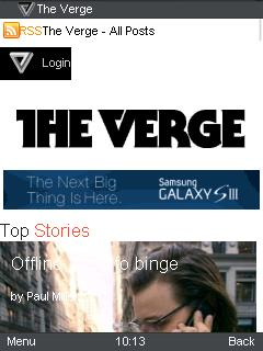 UC Browser 8.4 The Verge