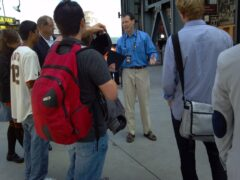 The Giant's Bill Schlough leads a blogger tour of AT&T park