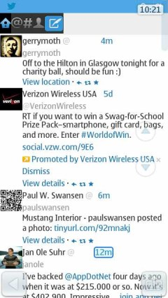 UC Browser 8.5 Symbian^3 - Twitter