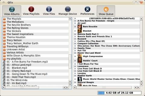 Qlix Linux MTP file transfer app