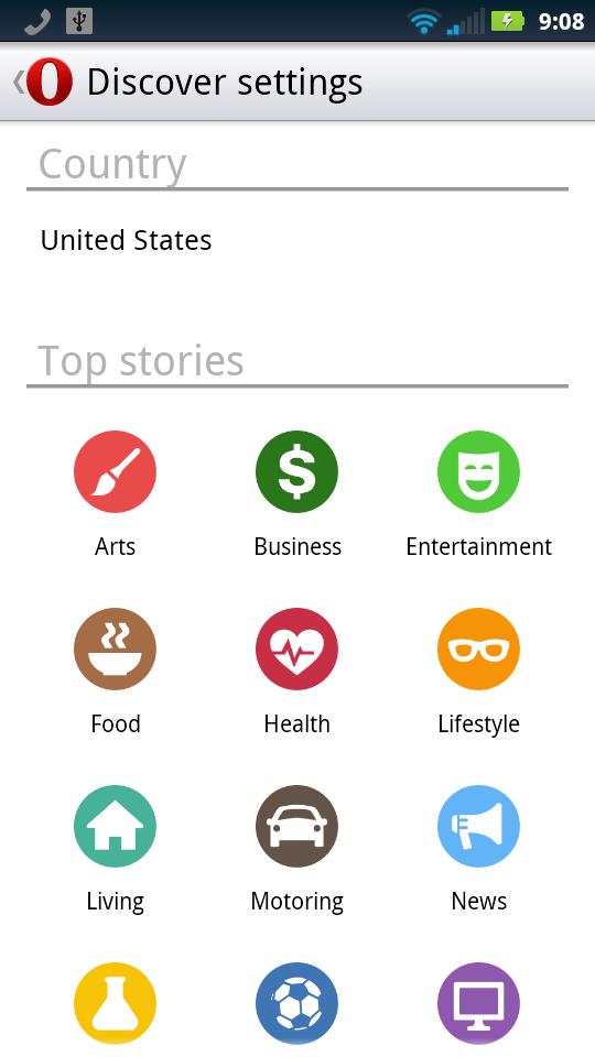 Opera Webkit Beta NY Google Discover Page Settings