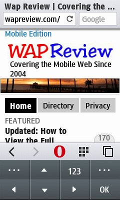 Wap Review » Blog Archive » How To Hide the Opera Mini 8