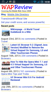WapReview Android Browser