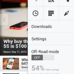 Opera Browser 16 Beta - Main Menu