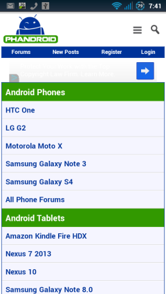 AndroidForums Homepage