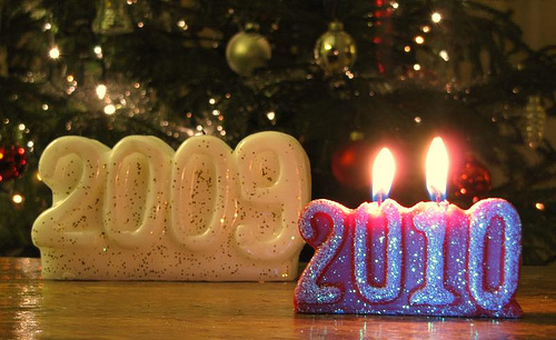 2009 Becomes 2010 by Optical Illustion